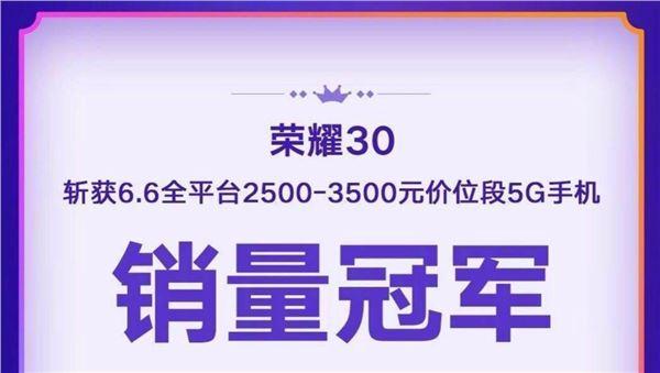 荣耀30 618 5G 双扬声器