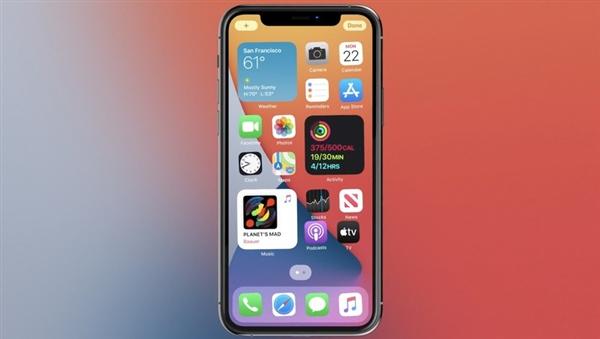 苹果 iOS 14 小部件 应用库 苹果系统