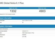 诺基亚6.1 Plus跑分曝光 中端大屏机?