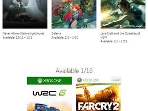 Xbox 1月金会员 会免游戏 免费游戏