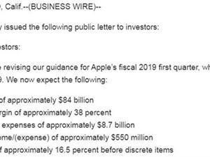 庫克 蘋果業績不及預期 iPhone