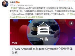 TRON波场游戏投资基金与gumi Cryptos建立投资伙伴关系