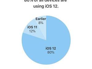 苹果 iOS12 iOS12安装率
