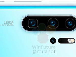 华为 P30 Pro 首张清晰渲染图曝光:后置四摄 + 10 倍变焦