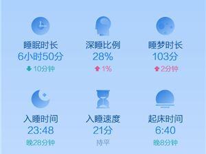 华米 小米手环 2018小米运动睡眠白皮书
