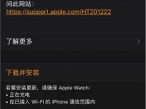 苹果手表 苹果手表系统