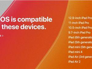 iPadOS iPadOS支持的設備