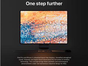 苹果全面屏 iMac 概念渲染:支持 Face ID、集成 HomePod 声音效果