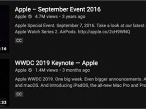 180多万名用户通过YouTube观看了苹果iPhone发布会