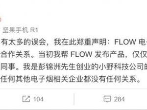 罗永浩 小野科技 FLOW电子烟