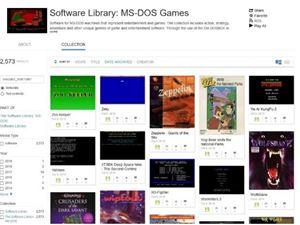 互联网档案馆 MSDOS游戏 InternetArchive