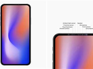 苹果 FaceID iPhone无刘海设计