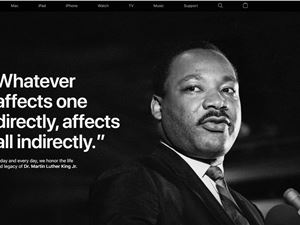 苹果官网上线马丁·路德·金纪念日页面