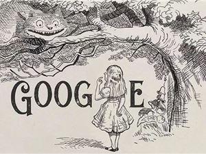谷歌涂鸦 爱丽丝梦游仙境 谷歌 外闻